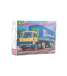 MAZ-5432(old) tractor truck with semitrailer MAZ-93971 - Die-cast Model Kit