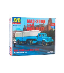 MAZ-200V tractor truck with MAZ-5217 semitrailer - Die-cast Model Kit