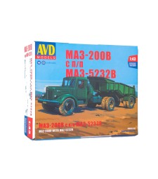 MAZ-200V tractor truck with MAZ-5232V dumper semitrailer - Die-cast Model Kit