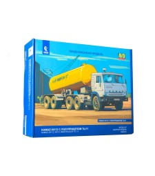 Kamaz-54112 tractor truck with semitrailer for cement TC-11 - Die-cast Model Kit