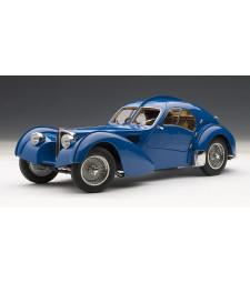 BUGATTI 57SC ATLANTIC 1938 - BLUE WITH METAL WIRE-SPOKE WHEELS