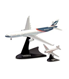 Cathay Pacific Airways Set Douglas DC-3/ Airbus A330-300 Niki + Progress Hong Kong Aircraft Model Kit, Multi-Colour