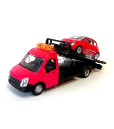 Iveco Daily transport with Fiat 500