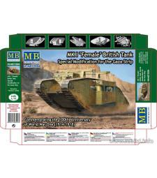 """1:72 Британски танк МК.1 """"Женски"""" - Специална модификация за ивицата Газа (MK I Female"""" British Tank, Special Modification for the Gaza Strip"""")"""