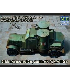 "1:72 Британска бронирана кола ""Аустин"" (British Armoured Car, Austin, MK IV, WW I Era)"