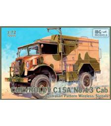 1:72 Свързочен камион с австралийски камуфлаж Chevrolet C15A No.13 CabAustralian Pattern Wireless/Signals