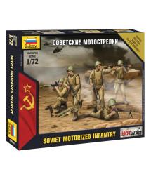 1:72 Съветска моторизирана пехота - 5 фигури - сглобка без лепило