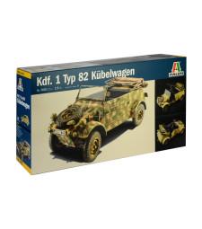 1:9 Германски военен автомобил Kdf. 1 Typ 82 Kubelwagen