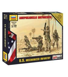 1:72 Американска пехота - 5 фигури - сглобка без лепило