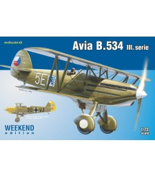 1:72 Чехословашки изтребител-биплан Avia B.534 серия III