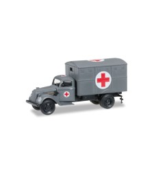 "1:87 Ural truck with ambulance box (with tactical sign) ""German Forces"""
