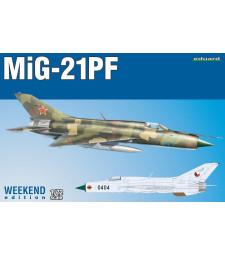 1:72 Съветски реактивен изтребител от студената война МиГ-21ПФ