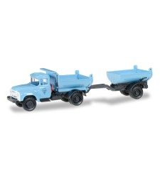 ZIL 130 Truck-mounted tipper trailer, blue