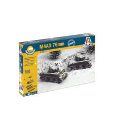 1:72 Комплект от 2 танка M4 A3 76mm - бърза сглобка