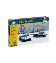 1:72 Танк T34/76 Модел 42 - бърза сглобка, 2 модела
