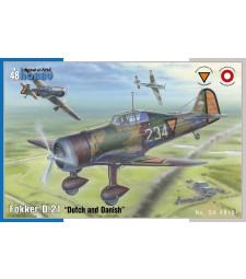 """1:48 Германски самолет Fokker D.21 """"Dutch and Dannish"""""""