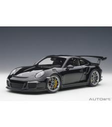 Porsche 991 GT3 RS (gloss black/dark greywheels) (composite model/full openings)