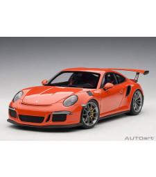 Porsche 911 (991) GT3 RS (lava orange/darkgrey white) 2016 (composite model/full openings)