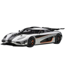 Koenigsegg One-Moon grey-Carbon black-Orange accents-2014 (composite model/full openings +removable roof)