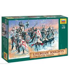 1:72 Ливонски рицари - 9 конни фигури и 24 пехотинци