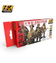 AK3240 WWII BRITISH UNIFORM COLORS - Комплект бои за фигури (6 x 17 ml)