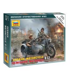 1:72 Германски мотоциклет R-12 - сглобка без лепило