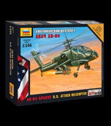 1:144 Вертолет от въоръжените сили на САЩ  AH-64 Apache - сглобка без лепило