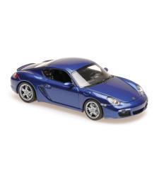 PORSCHE CAYMAN S - 2005 - BLUE METALLIC - MAXICHAMPS