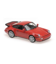 PORSCHE 911 TURBO (964) - 1990 – RED – MAXICHAMPS