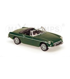 MGB CABRIOLET - 1962 - GREEN - MAXICHAMPS