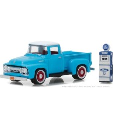 1954 Ford F-100 with Vintage Ford Motor Company Gas Pump Solid Pack - The Hobby Shop Series 3