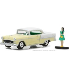 1955 Chevy Bel Air with Woman in Dress Solid Pack - The Hobby Shop Series 3