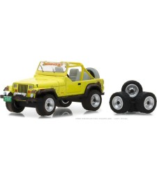 1991 Jeep YJ with Mud Spray and Spare Tires Solid Pack - The Hobby Shop Series 3