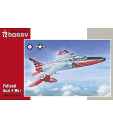1:72 Британски едноместен самолет Folland Gnat F Mk.I British Single Seaters