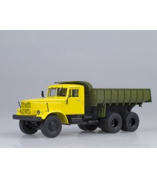 KRAZ-256B1 Dumper Truck - yellow-green