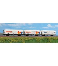 Комплект от 3 хладилни вагона MIGROS на Италианските национални железници (FS), V