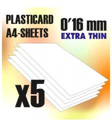 ABS пластмасов лист А4 размер - дебелина 0'16 мм