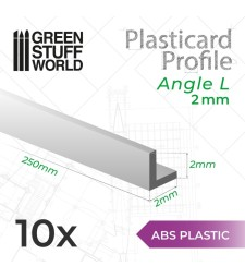 ABS Plasticard - Profile ANGLE-L 2mm