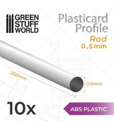 ABS Plasticard - Profile ROD 0'5mm