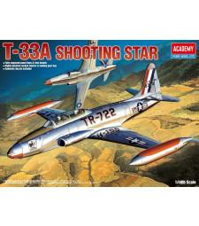 """1:48 Американски тренировъчен самолет Т-33А """"Падаща звезда"""" (T-33A SHOOTINGSTAR)"""
