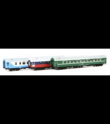 """D 1248/1249 """"Саратов Експрес"""", RZD, комплект спални вагони, епоха V"""
