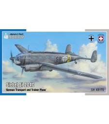 1:48 Самолет Siebel Si 204D 'German Transport and Trainer Plane'