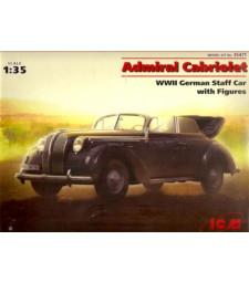 1:35 Германски щабен автомобил Опел Адмирал кабриолет (Opel Admiral Cabriolet) с фигури