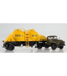 ZIL-130V1 with K4-AMG semitrailer for flour transport
