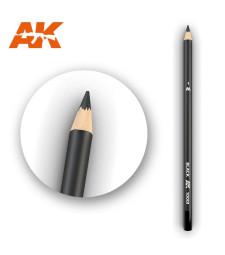 AK10001 Watercolor Pencil Black - Воден молив за моделизъм (1 брой)
