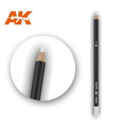 AK10004 Watercolor Pencil White - Воден молив за моделизъм (1 брой)
