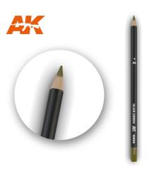 AK10006 Watercolor Pencil Olive Green - Воден молив за моделизъм (1 брой)