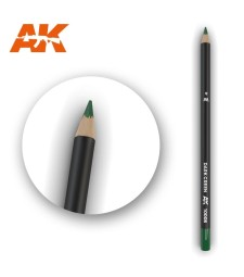 AK10008 Watercolor Pencil Dark Green - Воден молив за моделизъм (1 брой)