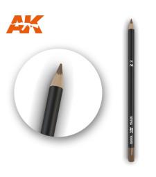 AK10010 Watercolor Pencil Sepia - Воден молив за моделизъм (1 брой)