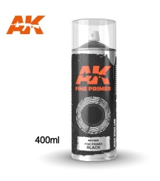 AK1009 Fine Primer Black Spray 400ml
